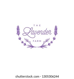 Template logo design of abstract icon lavender. Vector illustration - Vector
