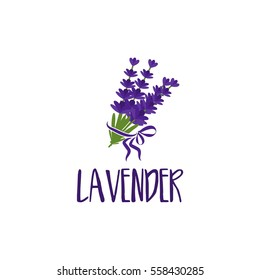 Template logo design of abstract icon lavender. Vector illustration