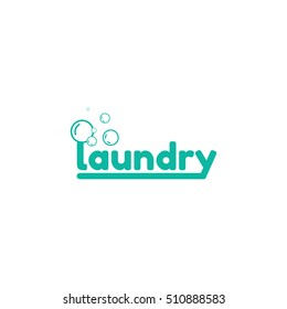 Template logo for laundry