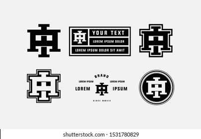 Template logo letter AI or IA monogram, initial brand, apparel and clothing