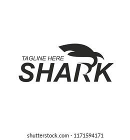 Template for logo shark