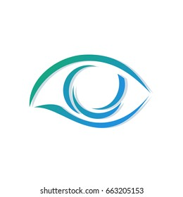 Template for a logo from a stylized eye. Center of Ophthalmology.
