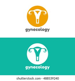 Template logo for uterus. Gynecology clinic