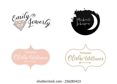 Template logos. Custom design. Photography logo