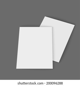 Template magazine, booklet, postcard, business card or brochure on a gray background.