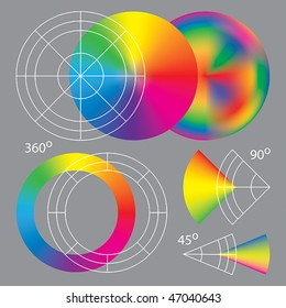 Template for making cone (conical) gradients from vector meshes