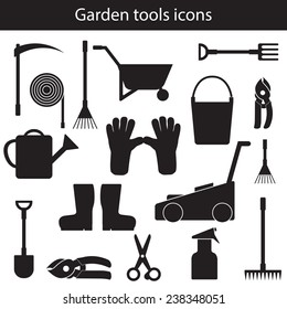 Template for making garden tools objects