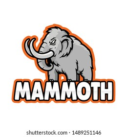 template mammoth logo ,e-sport logo mammoth vector illustration isolated white background