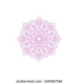 Template of Mandala Circular Pattern For Coloring Book, Decorative Ornament, Henna Motif, Floral Flower Sign Symbol,  Islam, Arabic, Asian, Turkish, Pakistan, Chinese, Moroccan, Ottoman Motif
