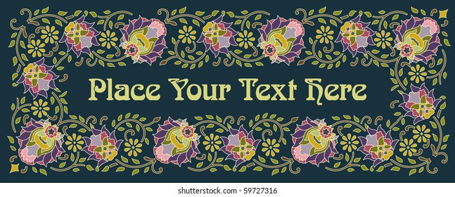 template for masthead or label made using traditional decorative elements