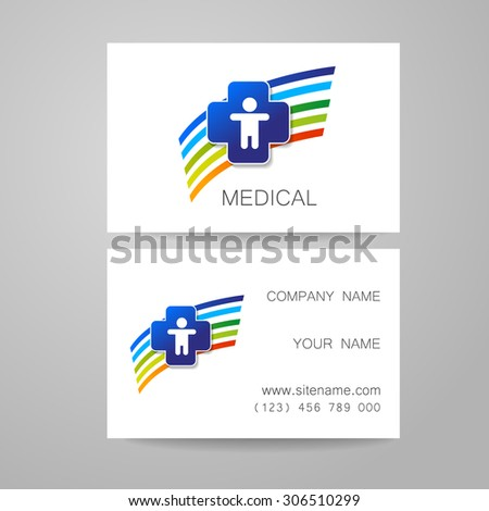 Template medical business cards stock vector royalty free template of medical business cards flashek Choice Image