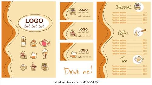 Visitenkarten Cafe Stock Illustrations Images Vectors