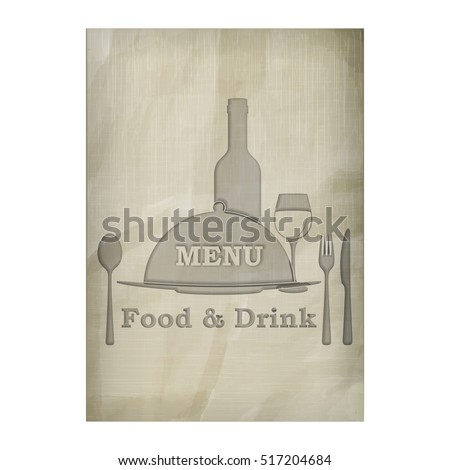 photograph regarding Free Printable Wine Glass Stencils known as Template Menu Go over Stencil Texture Outdated Inventory Vector
