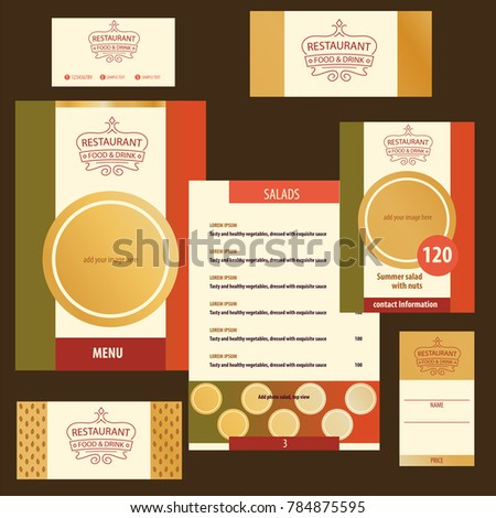 template menu logo nutrition catering cafe stock vector royalty