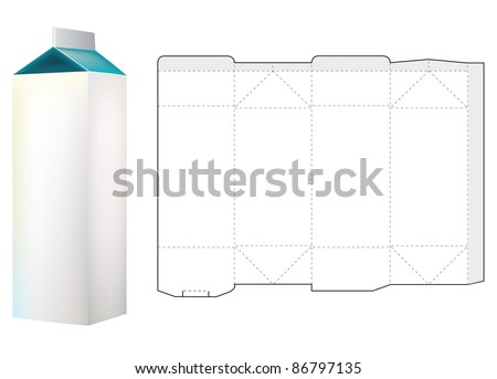 Template Of Milk Carton Box