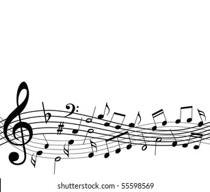 template with music notes