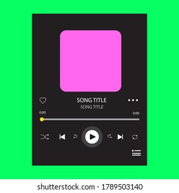 template music player for handphone. Spotify template