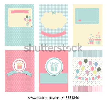 Template Notebook Paper Diary Scrapbook Card Stock Vector (Royalty ...