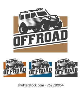 template of off road car logo, offroad logo, SUV car logo template, off-road