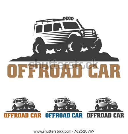 Template Off Road Car Logo Offroad Stock Vector Royalty Free