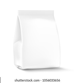 Template package with a flat bottom on a white background. Can be use for template your design, food, adv. EPS10.
