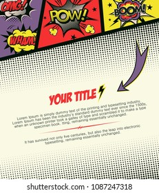 Template page comic. Vector illustration.