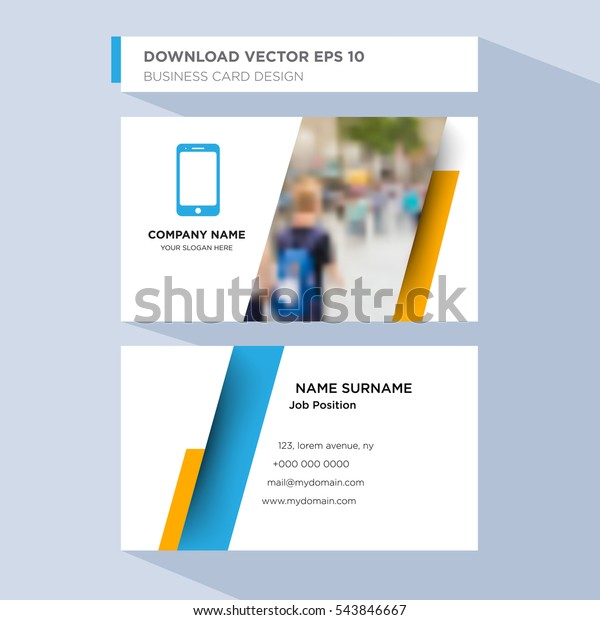 Template Personal Card Technology Service Companys Stock