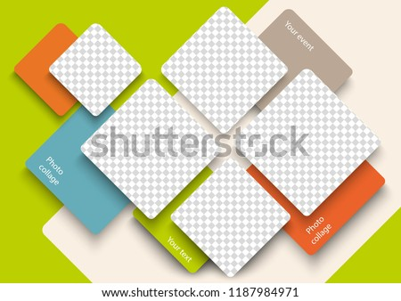 Стоковая векторная графика «Template Photo Collage Modern ...