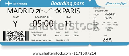 template plane ticket business trip travel stock vector royalty