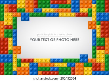 Template of plastic parts for text or photo. 5 colors. Enjoy!