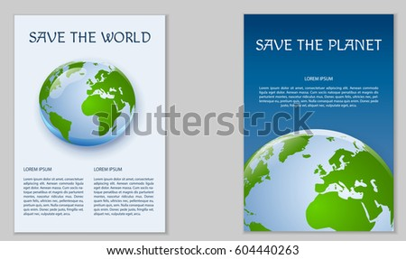 template poster design save planet ecological stock vector royalty