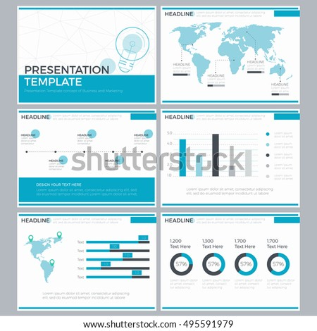 template power point business presentation infographic のベクター
