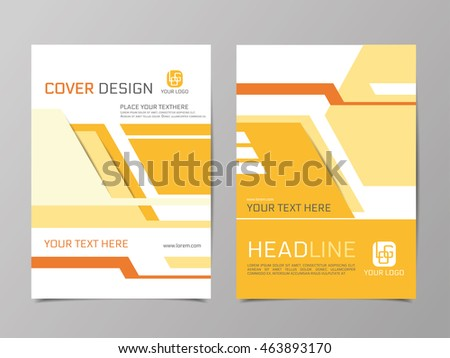 template presentations cover annual report brochures stock vector