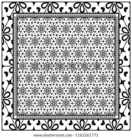 template print fabric pattern floral geometric stock vector royalty