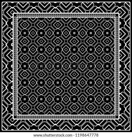 Template Print Fabric Pattern Geometric Ornament Stock