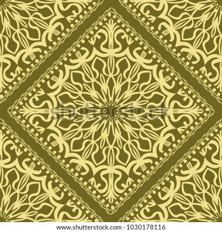 template print fabric pattern mandala border stock vector royalty
