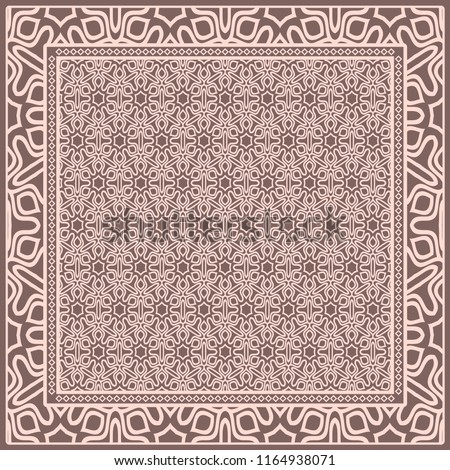 template print sofa square pillow floral stock vector royalty free