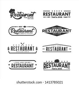 Template Restaurant Logo vector set