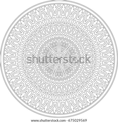 template round ornament stock vector royalty free 675029569