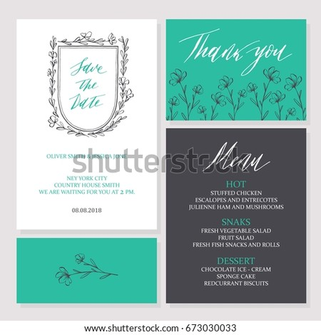 template rustic wedding invitations save date stock vector royalty