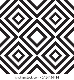 Template seamless geometric abstract pattern. Can be used on packaging paper, fabric, wallpapers, textile. Black and white vector illustration