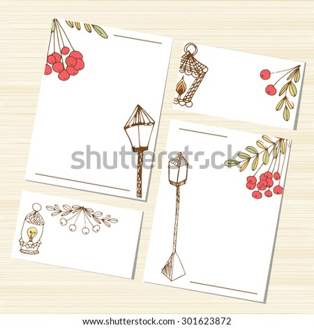 Template Set Congratulations Wedding Invitation Background Stock