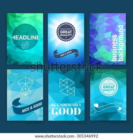 template set poster flyer brochure design stock vector royalty free