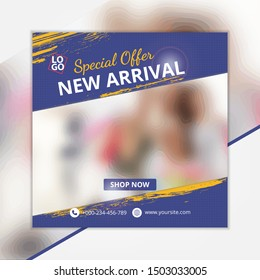 Template social media post, design for ads, template for fashion sale, web banner and social media post design