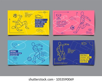 Template Sport Layout Design, Flat Design, single line,  Graphic Illustration, Football, Soccer, Vector Illustration.
