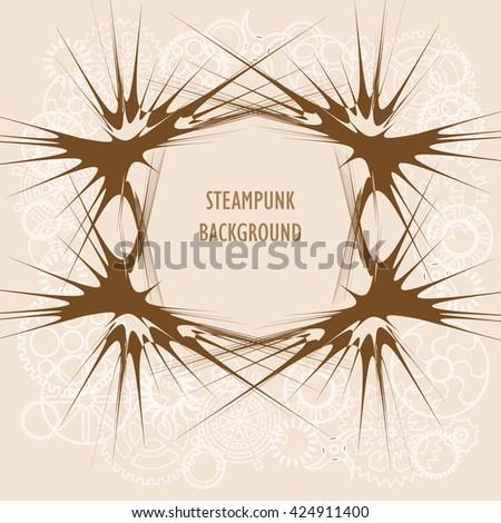 template steampunk design card frame steampunk stock vector royalty