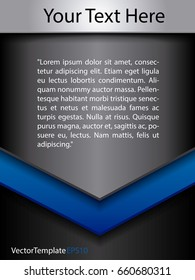 Template Steel Black and Blue Concept