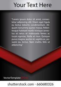 Template Steel Black and Red Concept