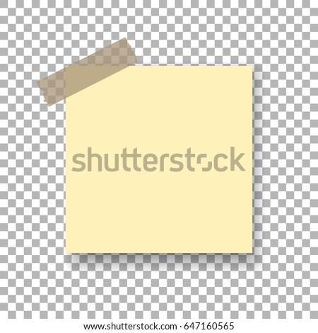 template sticky note sticky tape isolated stock vector royalty free