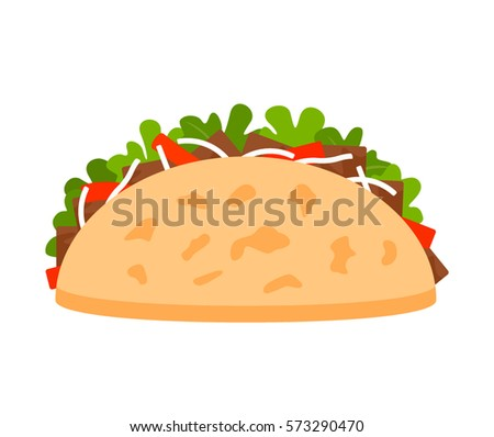 template streets mexican food tacos flat stock vector royalty free